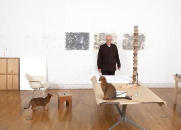 Terry Winter's studio