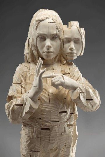 Demetz's attractive and disquieting sculptures