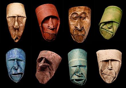 Junior Fritz Jacquet paper toilet rolls masks