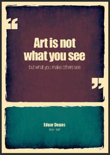 Edgar Degas quote