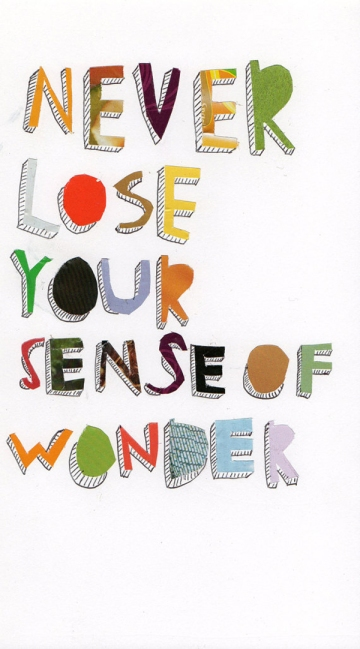 Never lose your sense of wonder Quote