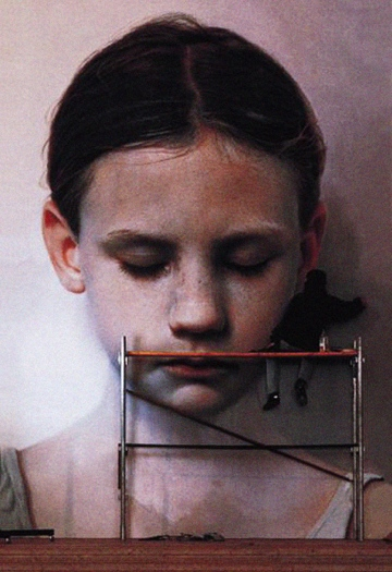 Gottfried Helnwein Head of a child
