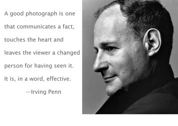 Irving Penn Photography Quote