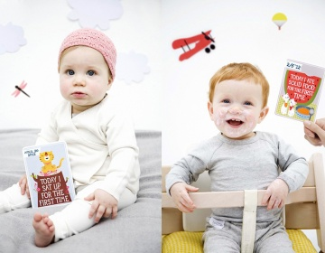 Milestone Baby Card photos