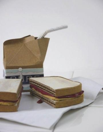 Patianne Stevenson's cardboard food