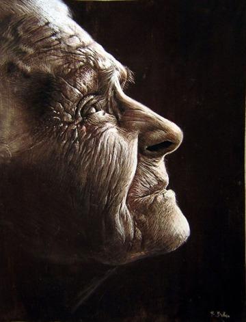 Rubén Belloso's hyper-realistic pastels potraits
